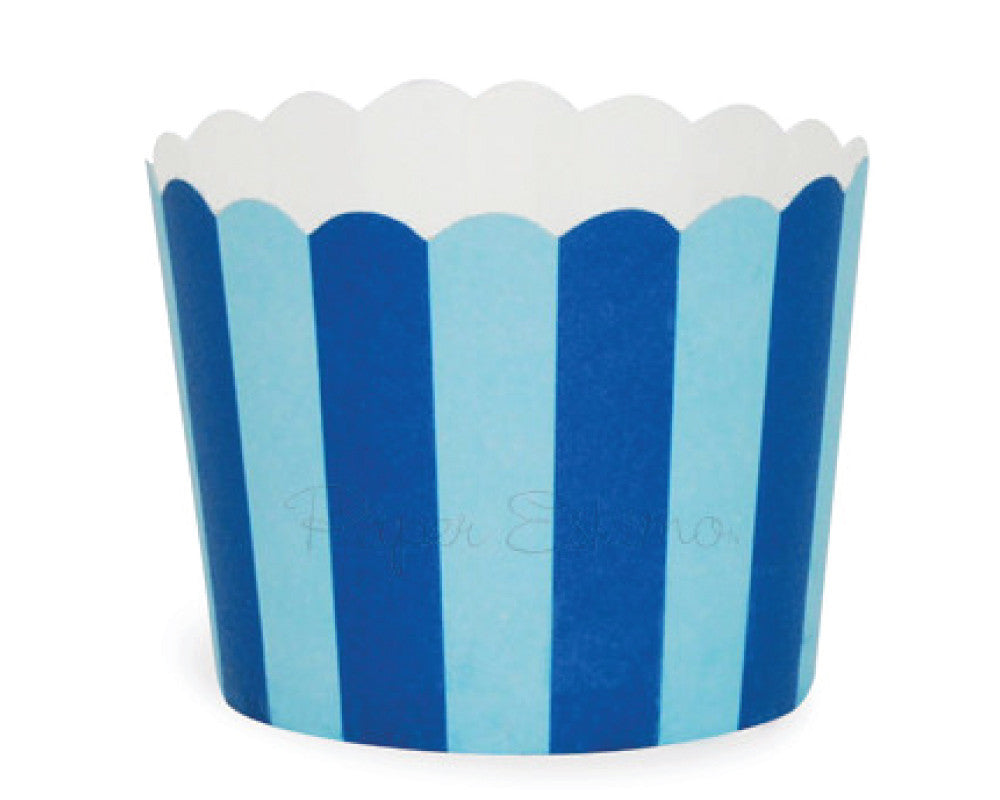 Blue Stripe Baking Cups - Undercover Hostess