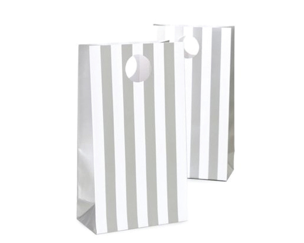 Silver Stripe Favor Bag - Undercover Hostess