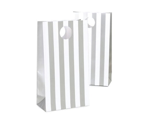 Silver Stripe Favor Bag