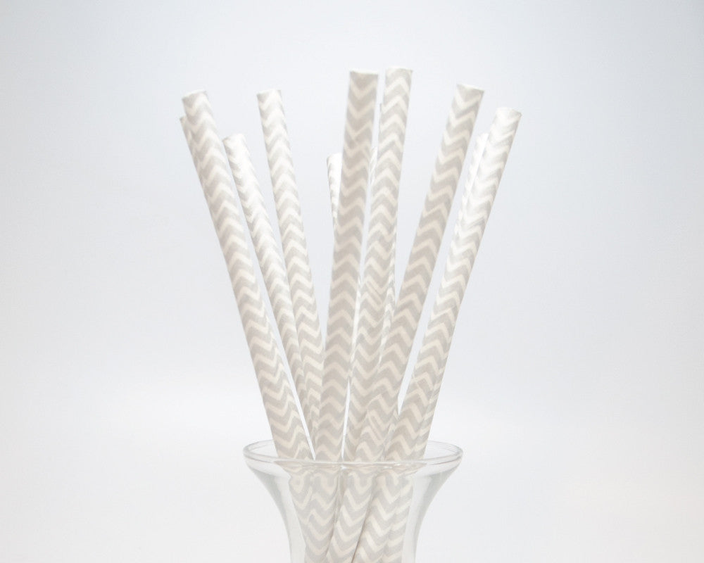 Silver Chevron Straws - Undercover Hostess