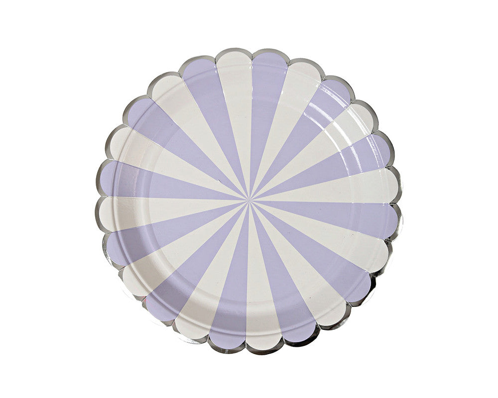 Lavender Striped Small Plates - Undercover Hostess