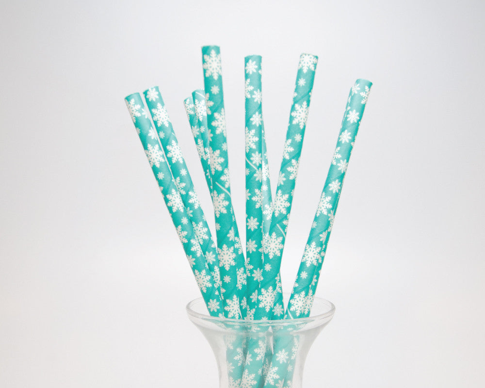 Teal Snowflake Straws - Undercover Hostess - 1