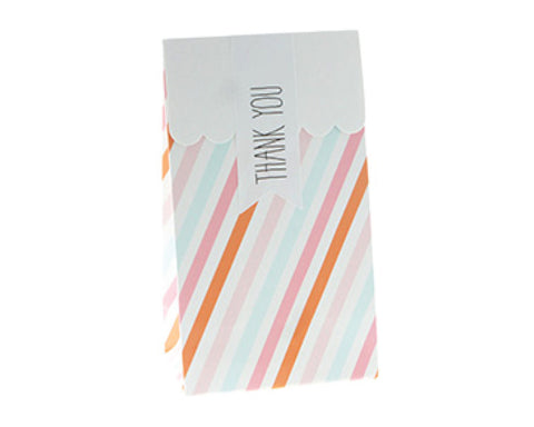Sorbet Striped Favor Bag