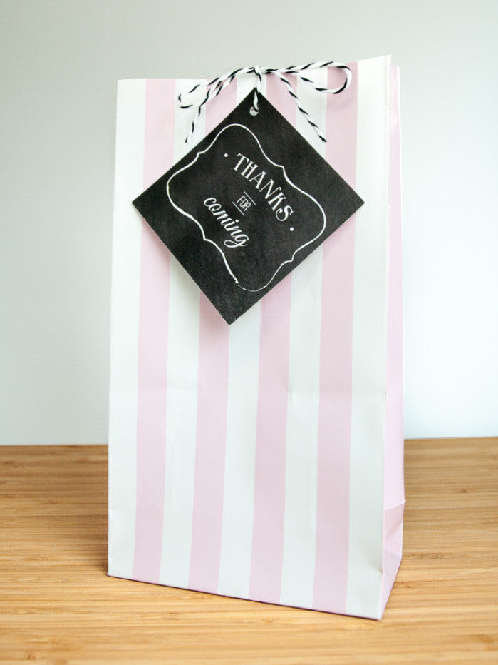Charming Chalkboard Baby Girl Favor Bags & Tags - Undercover Hostess