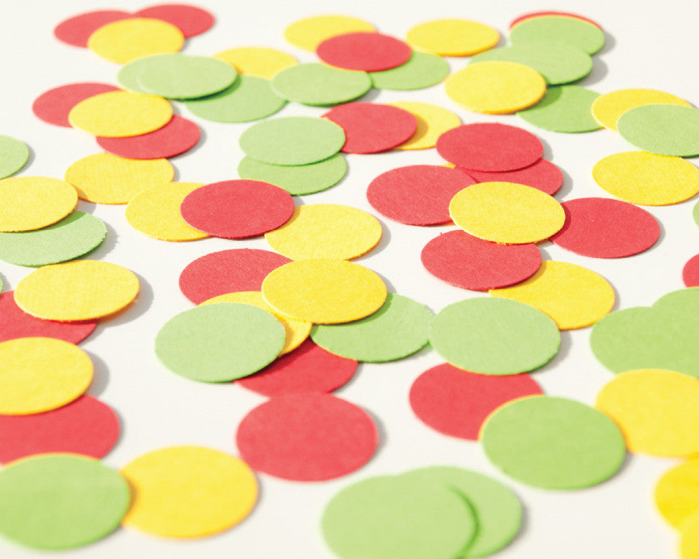Yellow, Green and Red Confetti - Undercover Hostess