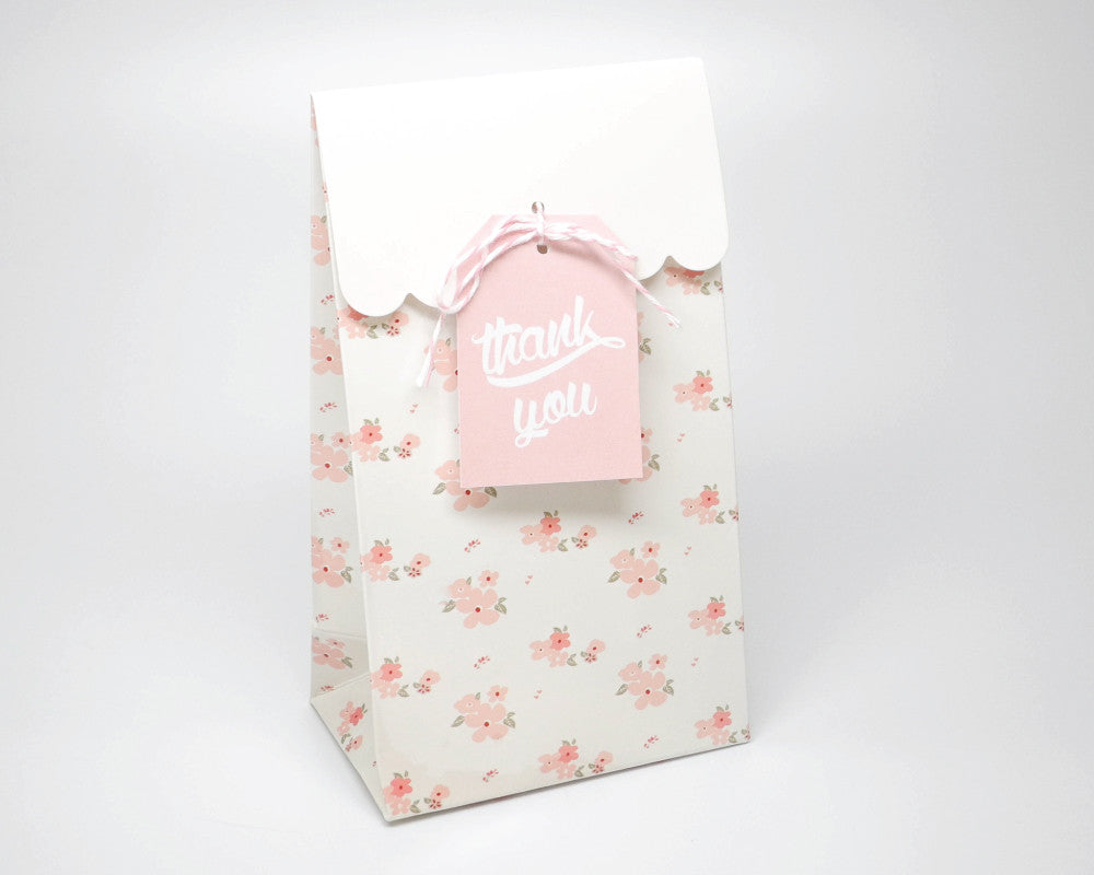 A Baby is Brewing White Favor Bags & Tags - Undercover Hostess - 1