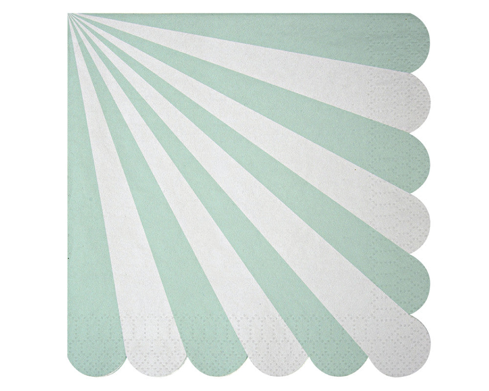 Teal & White Scalloped Napkins - Undercover Hostess