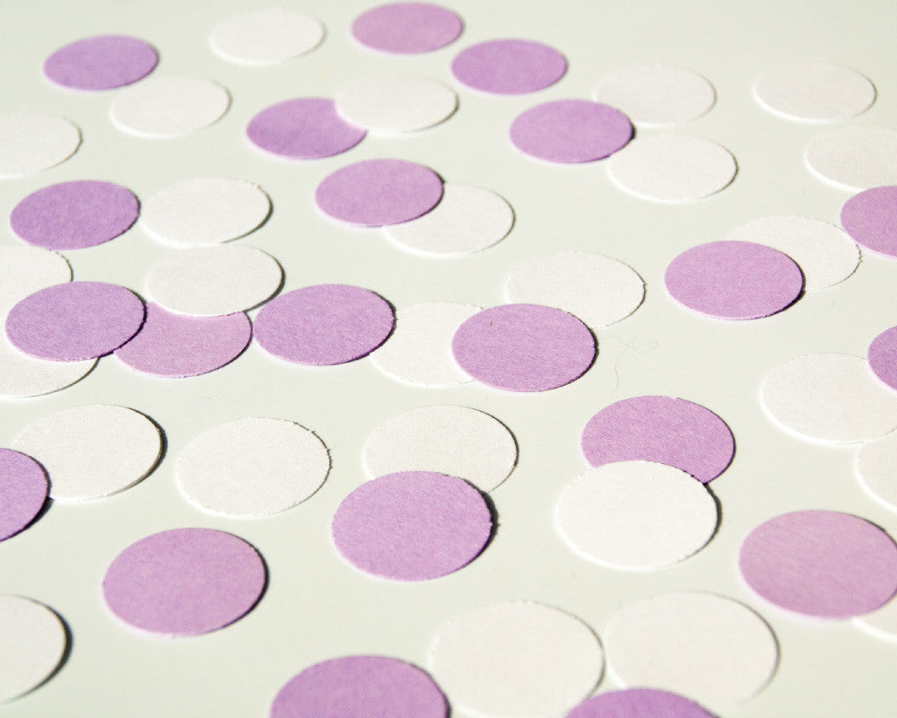 Purple and White Confetti - Undercover Hostess