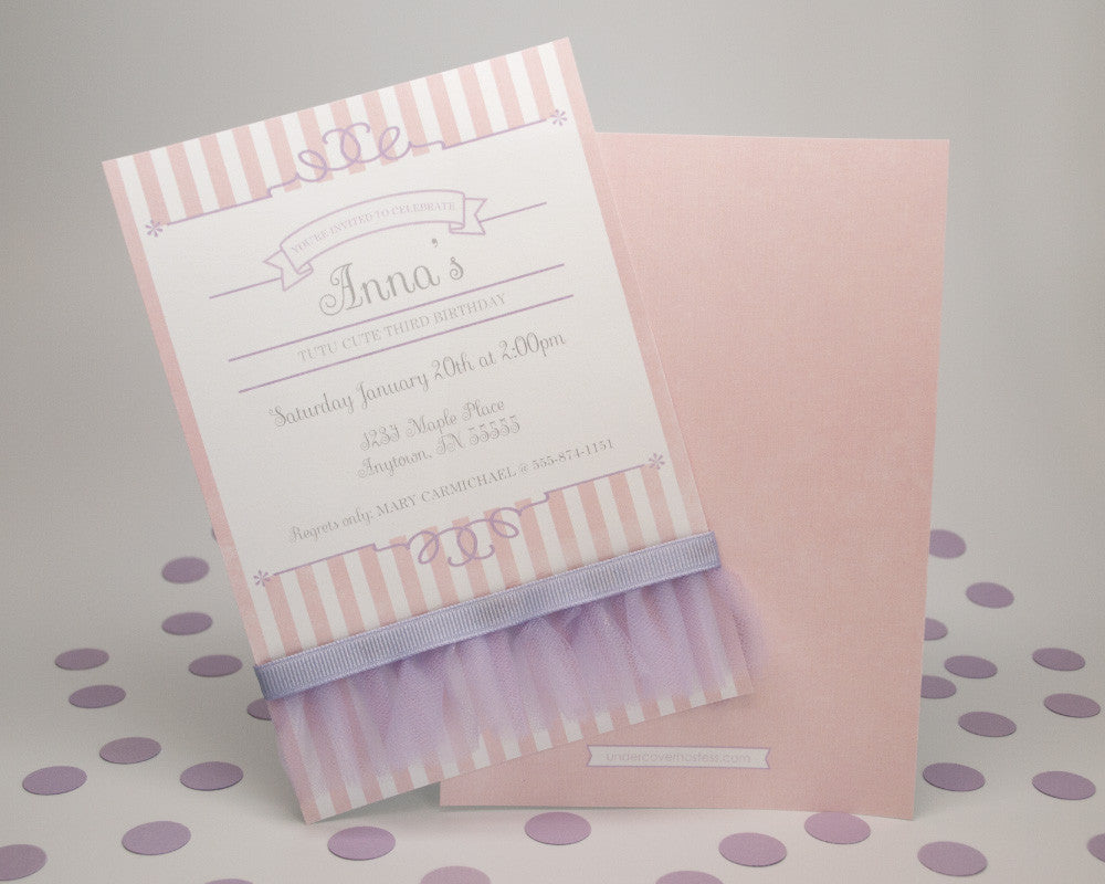 Tutu Sweet Invitations - Undercover Hostess - 1