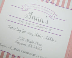Tutu Sweet Invitations - Undercover Hostess - 2