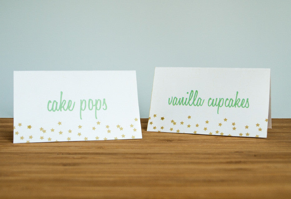 Twinkle Twinkle Little Party Tent Cards - Undercover Hostess