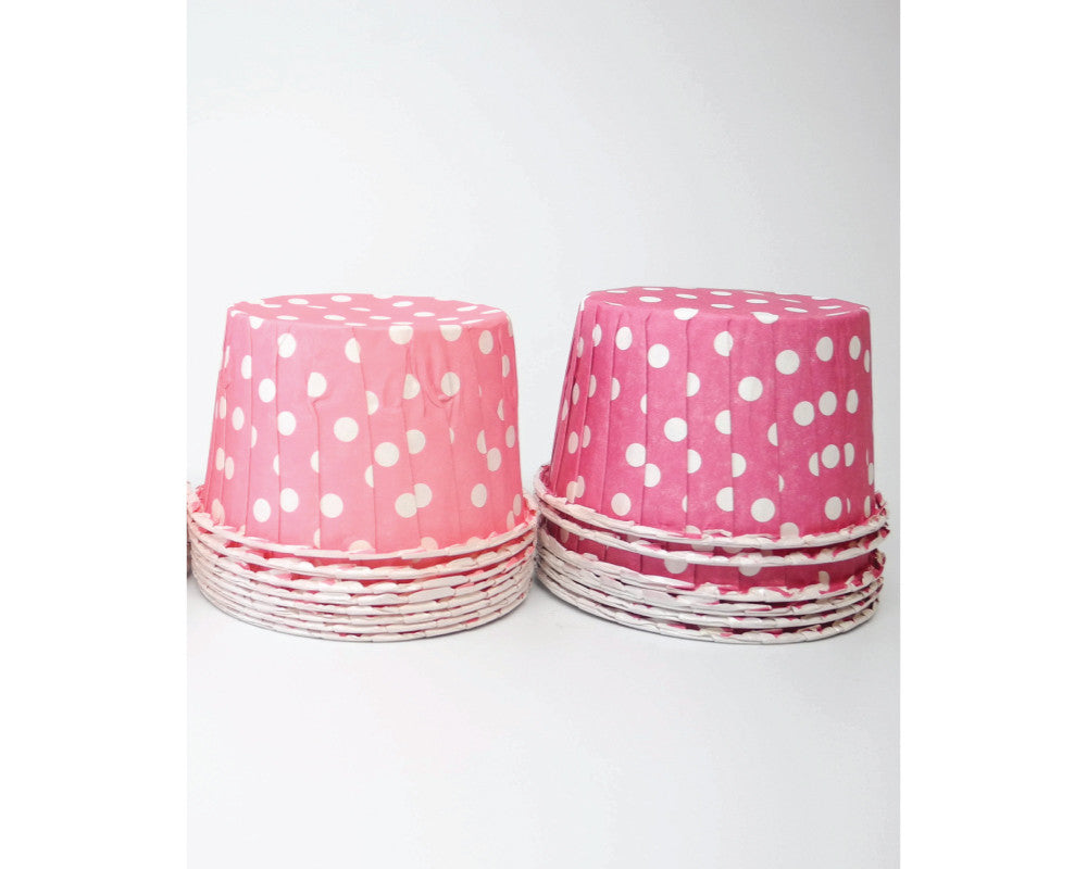Pink and Bright Pink Polka Dot Candy Cups - Undercover Hostess