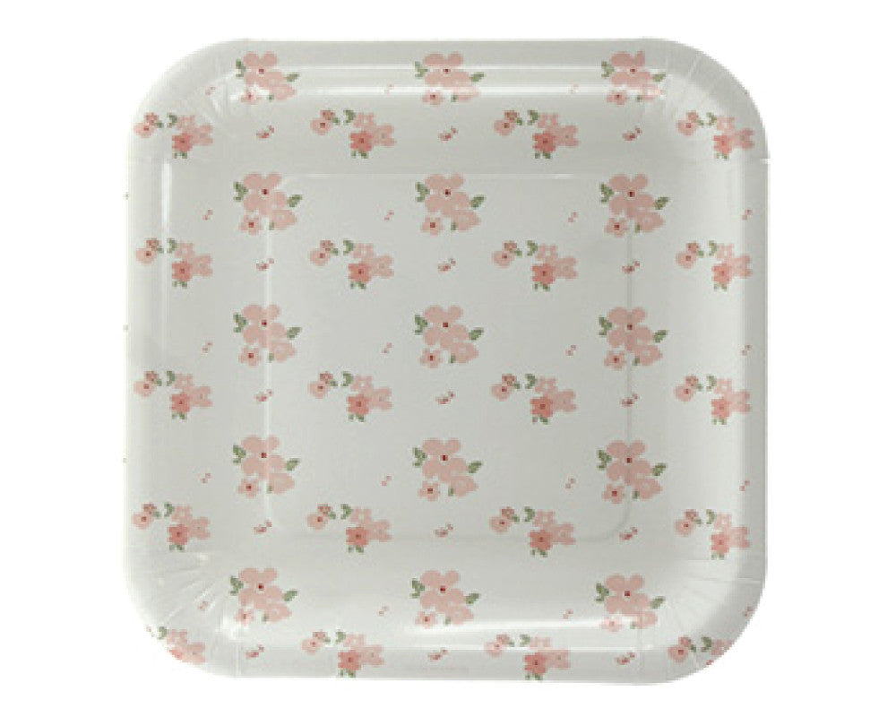 White and Pink Floral Dessert Plates - Undercover Hostess - 1