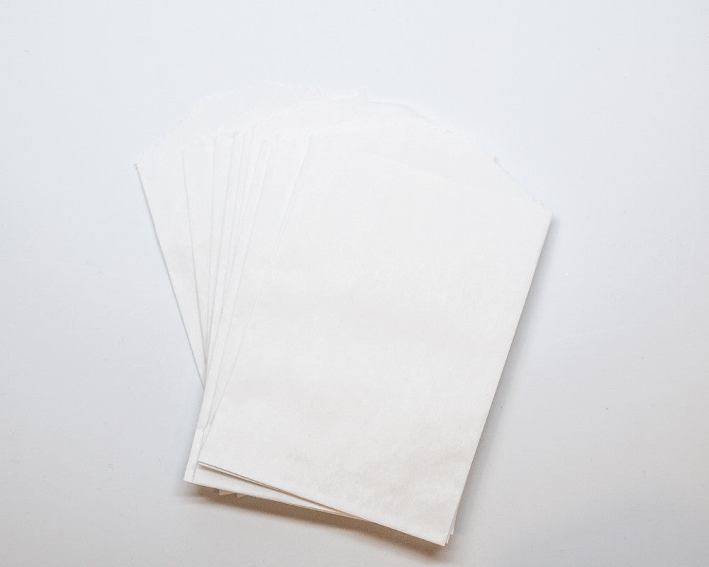 Small White Favor Bags - Undercover Hostess