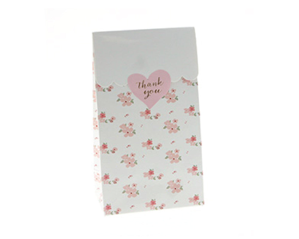 White Floral Favor Bag - Undercover Hostess - 1