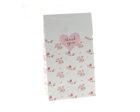 White Floral Favor Bag