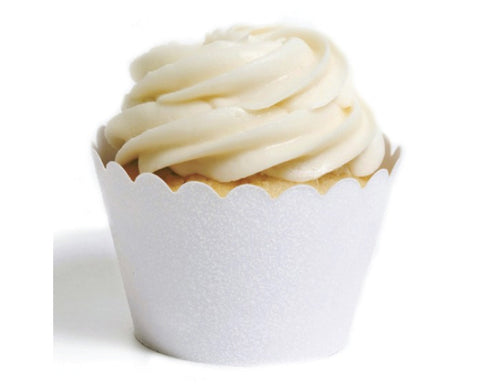White Sparkle Cupcake Wrapper