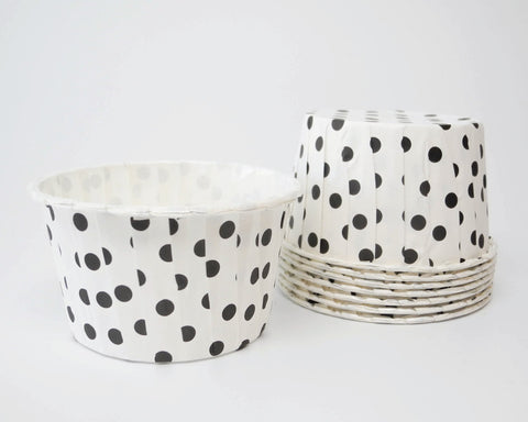 White with Black Polka Dots Candy Cups