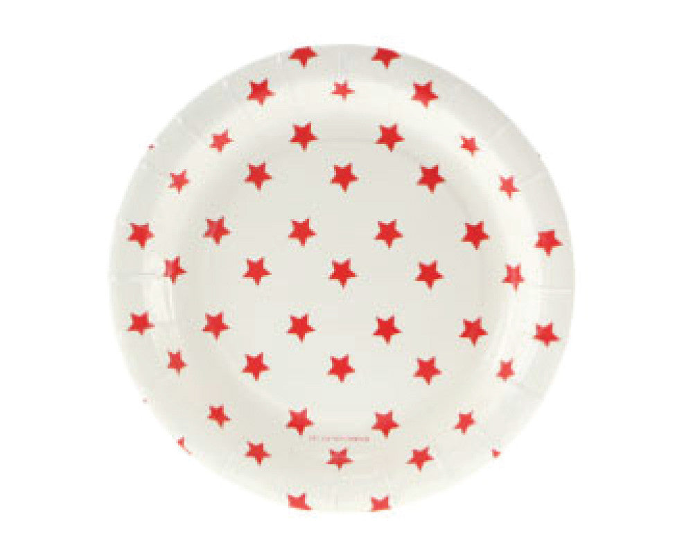 Red Star Dessert Plates - Undercover Hostess