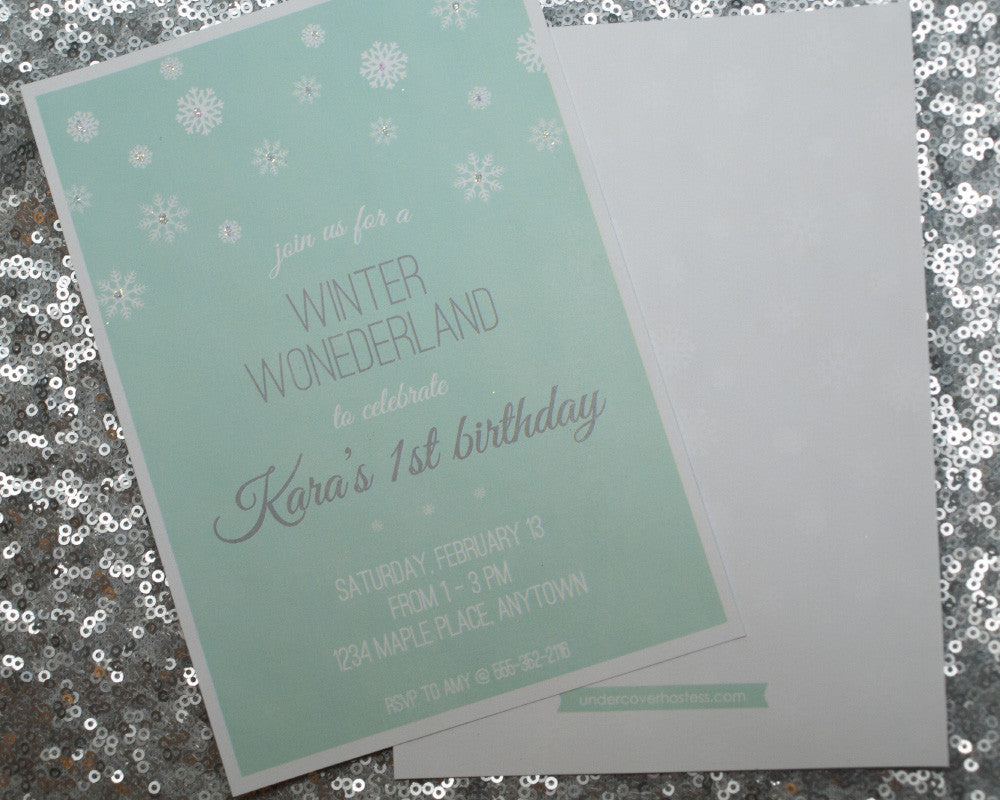 Winter Wonderland Invitations - Undercover Hostess - 1