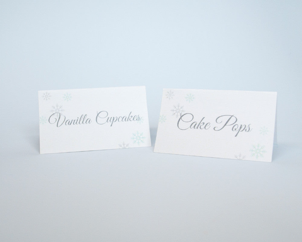 Winter Wonderland Tent Cards - Undercover Hostess