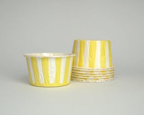 Yellow Stripe Candy Cups