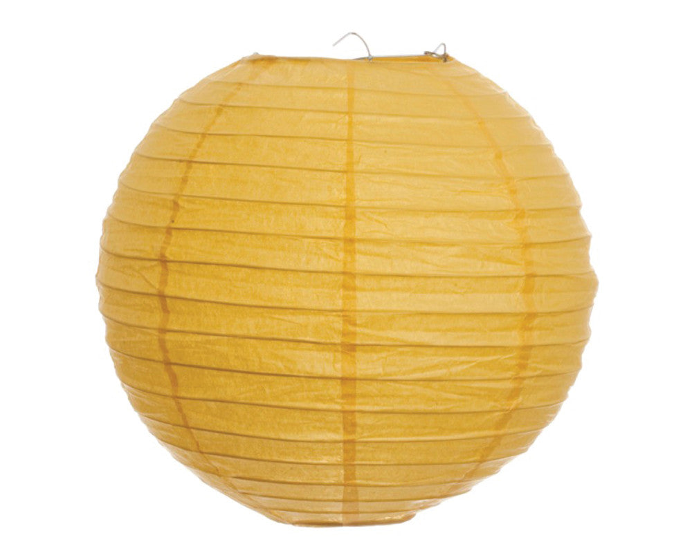 "Yellow Paper Lantern - 12"" - Undercover Hostess"