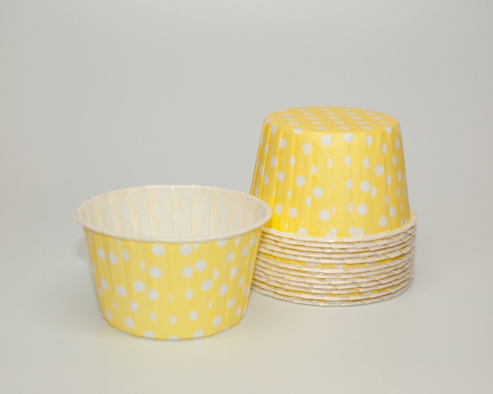Yellow Polka Dot Candy Cups - Undercover Hostess