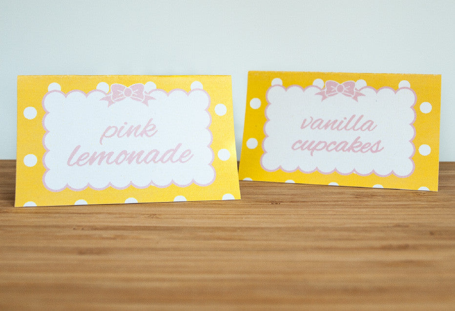 Cute and Curious Tent Cards - Undercover Hostess