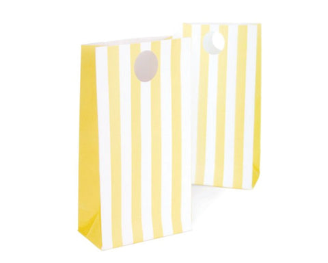 Yellow Stripe Favor Bags