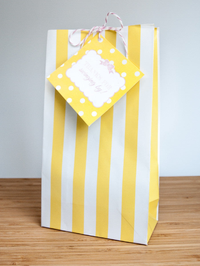 Cute and Curious Favor Bags & Tags - Undercover Hostess