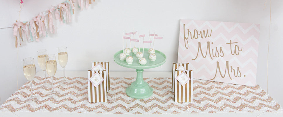 mint to be glam bridal shower