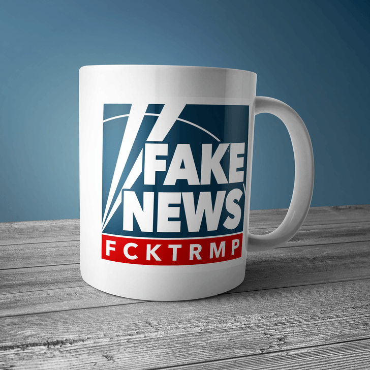 Fake News Coffee Mug Drinkware CustomCat One Size