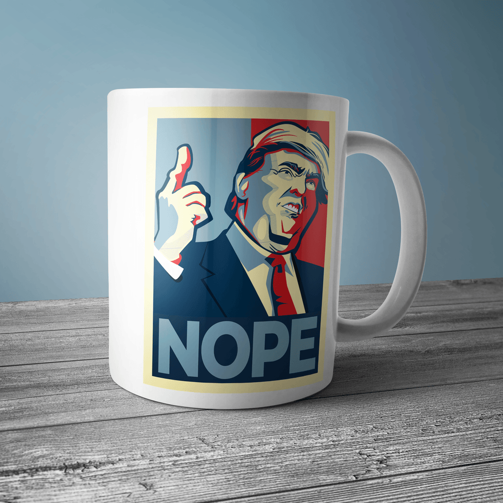 NOPE Coffee Mug Drinkware CustomCat One Size