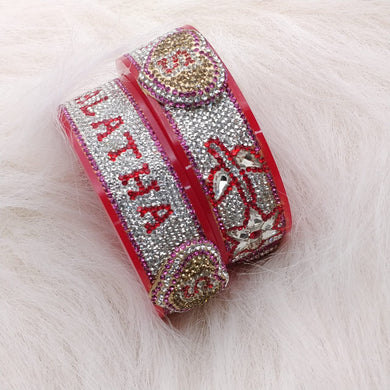 Maahi's Exclusive Personalized Bangles Set - 020 - Bridalchooda