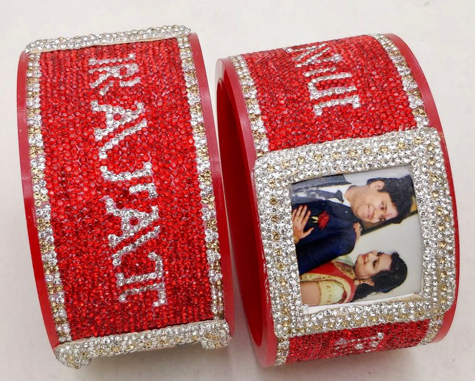 Maahi's Exclusive Personalized Bangles Set - 017 - Bridalchooda