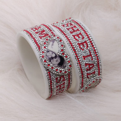 Maahi's Exclusive Personalized Bangles Set - 019 - Bridalchooda