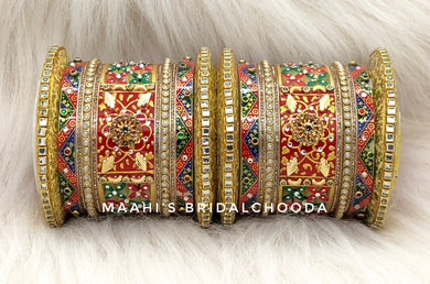 Handpainted Kundan Chooda - 011