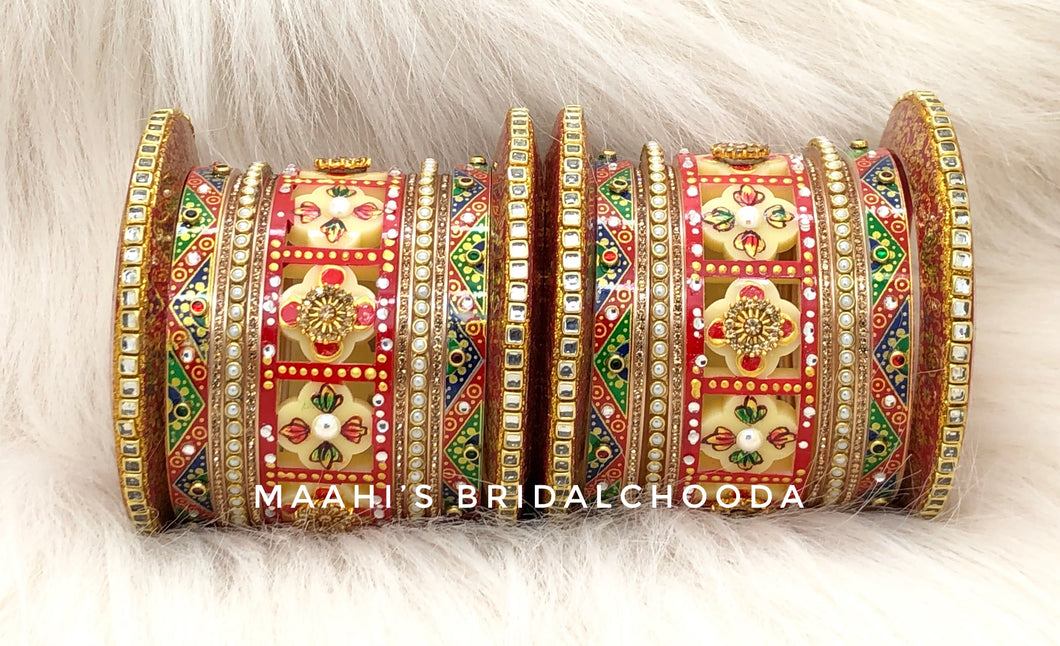 Handpainted Kundan Chooda - 012