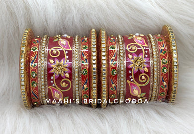 Handpainted Kundan Chooda - 014