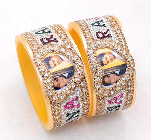 Maahi's Exclusive Personalized Bangles Set - 001 - Bridalchooda