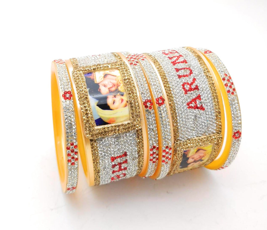 Maahi's Exclusive Personalized Bangles Set - 002 - Bridalchooda