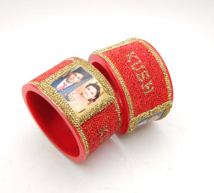 Maahi's Exclusive Personalized Bangles Set - 003 - Bridalchooda