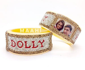 Maahi's Exclusive Personalized Bangles Set - 006 - Bridalchooda