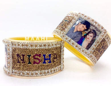 Maahi's Exclusive Personalized Bangles Set - 007 - Bridalchooda