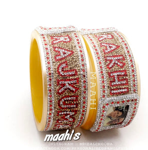 Maahi's Exclusive Personalized Bangles Set - 008 - Bridalchooda