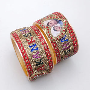 Maahi's Exclusive Personalized Bangles Set - 021