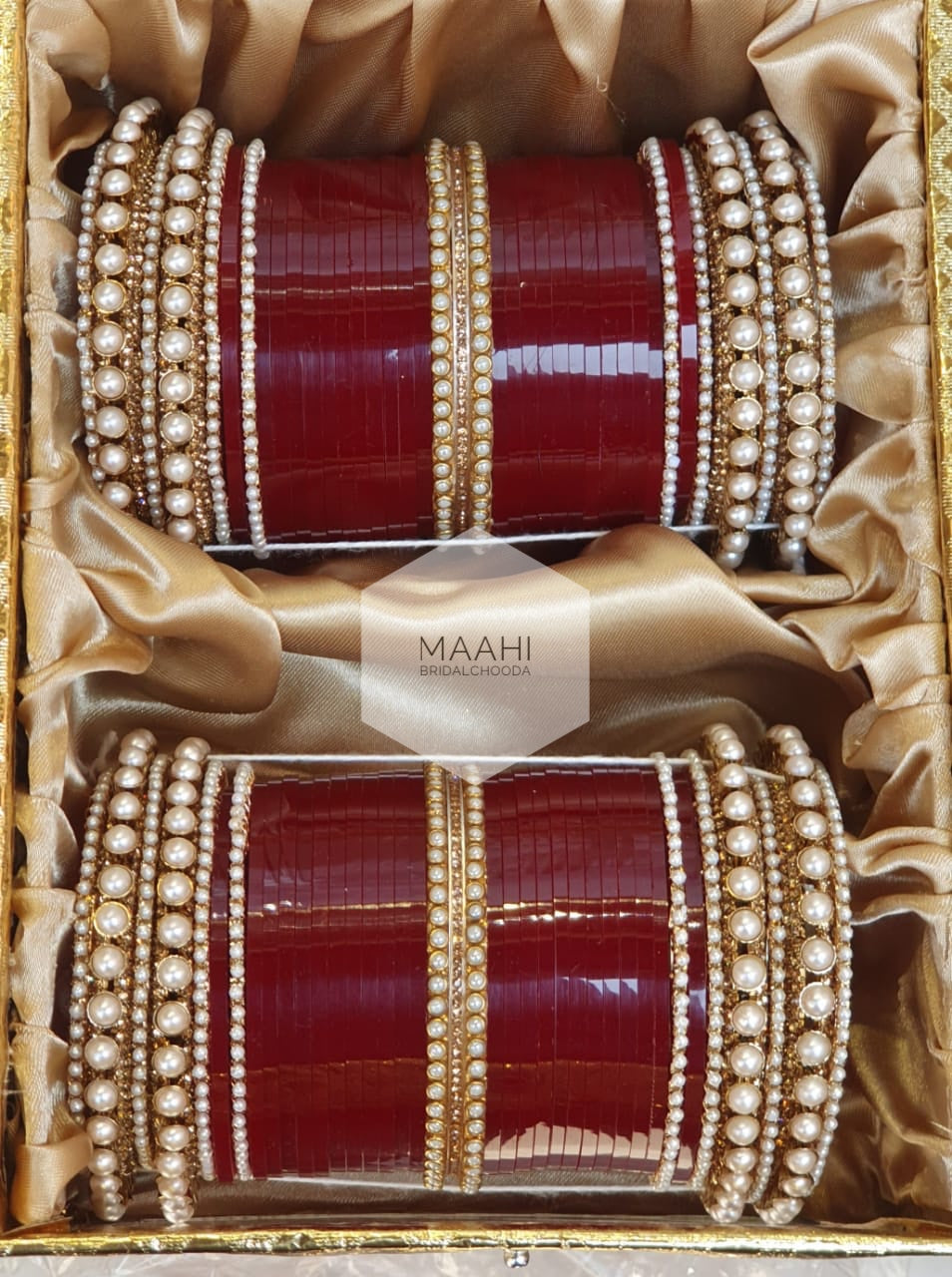 Maahi Exclusive Pearl Kundan Chura - 044