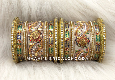 Handpainted Kundan Chooda - 015