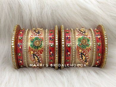 Handpainted Kundan Chooda - 016
